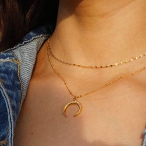 Moon Necklace by Wild Bliss Jewels